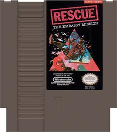 Cartridge artwork for Hostage: Rescue Mission on the Nintendo NES.