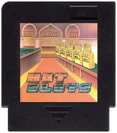 Cartridge artwork for Hot Slot on the Nintendo NES.