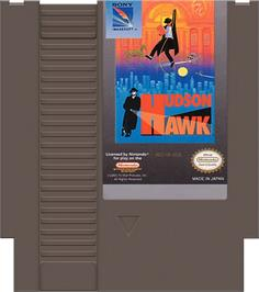 Cartridge artwork for Hudson Hawk on the Nintendo NES.