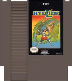 Cartridge artwork for Hydlide on the Nintendo NES.