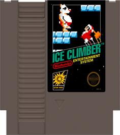 Cartridge artwork for Ice Climber on the Nintendo NES.