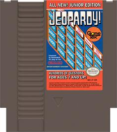Cartridge artwork for Jeopardy! Junior Edition on the Nintendo NES.