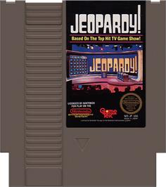 Cartridge artwork for Jeopardy on the Nintendo NES.
