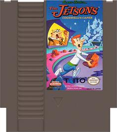 Cartridge artwork for Jetsons: Cogswell's Caper on the Nintendo NES.