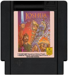 Cartridge artwork for Joshua & the Battle of Jericho on the Nintendo NES.