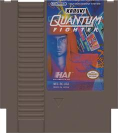 Cartridge artwork for Kabuki: Quantum Fighter on the Nintendo NES.