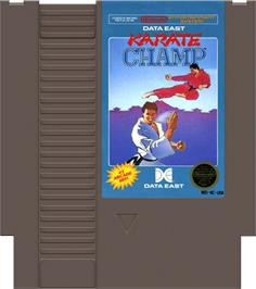 Cartridge artwork for Karate Champ on the Nintendo NES.
