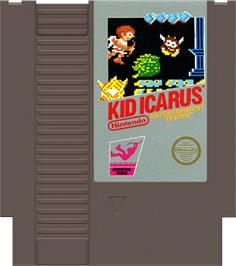 Cartridge artwork for Kid Icarus on the Nintendo NES.