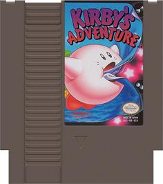 Cartridge artwork for Kirby's Adventure on the Nintendo NES.