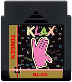 Cartridge artwork for Klax on the Nintendo NES.