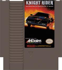 Cartridge artwork for Knight Rider on the Nintendo NES.