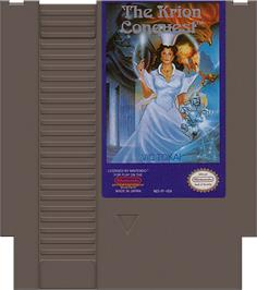 Cartridge artwork for Krion Conquest on the Nintendo NES.