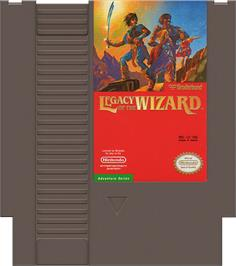 Cartridge artwork for Legacy of the Wizard on the Nintendo NES.