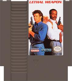 Cartridge artwork for Lethal Weapon on the Nintendo NES.