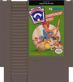 Cartridge artwork for Little League Baseball Championship Series on the Nintendo NES.