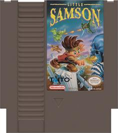 Cartridge artwork for Little Samson on the Nintendo NES.