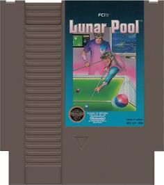 Cartridge artwork for Lunar Pool on the Nintendo NES.
