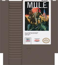 Cartridge artwork for MULE on the Nintendo NES.