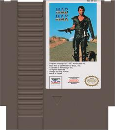 Cartridge artwork for Mad Max on the Nintendo NES.