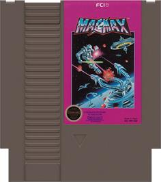 Cartridge artwork for Mag Max on the Nintendo NES.