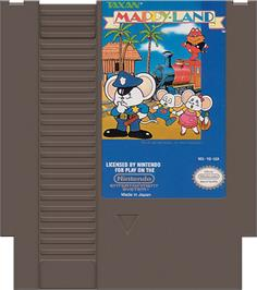 Cartridge artwork for Mappy Land on the Nintendo NES.