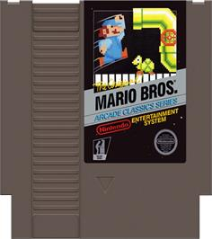 Cartridge artwork for Mario Bros. on the Nintendo NES.