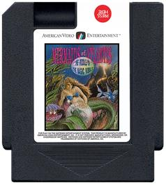 Cartridge artwork for Mermaids of Atlantis: A Riddle of a Magic Bubble on the Nintendo NES.