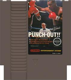 Cartridge artwork for Mike Tyson's Punch-Out!! on the Nintendo NES.