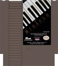 Cartridge artwork for Miracle Piano Teaching System on the Nintendo NES.