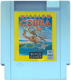 Cartridge artwork for Mission Cobra on the Nintendo NES.
