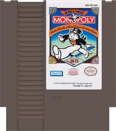 Cartridge artwork for Monopoly on the Nintendo NES.