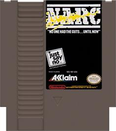 Cartridge artwork for Narc on the Nintendo NES.