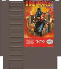 Cartridge artwork for Ninja Gaiden on the Nintendo NES.