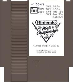 Cartridge artwork for Nintendo World Championships 1990 on the Nintendo NES.