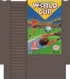 Cartridge artwork for Nintendo World Cup on the Nintendo NES.