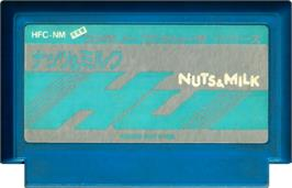 Cartridge artwork for Nuts & Milk on the Nintendo NES.