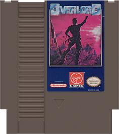 Cartridge artwork for Overlord on the Nintendo NES.