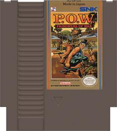 Cartridge artwork for P.O.W. - Prisoners of War on the Nintendo NES.