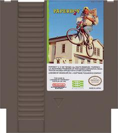 Cartridge artwork for Paperboy 2 on the Nintendo NES.