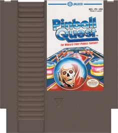 Cartridge artwork for Pinball Quest on the Nintendo NES.