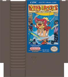 Cartridge artwork for Puss N Boots: Pero's Great Adventure on the Nintendo NES.