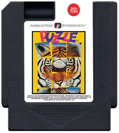 Cartridge artwork for Puzzle on the Nintendo NES.