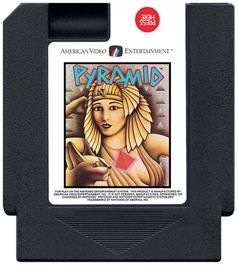 Cartridge artwork for Pyramid on the Nintendo NES.