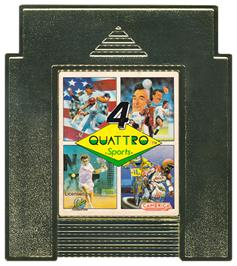Cartridge artwork for Quattro Sports on the Nintendo NES.