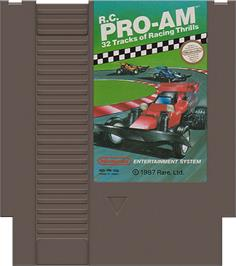 Cartridge artwork for R.C. Pro-Am on the Nintendo NES.