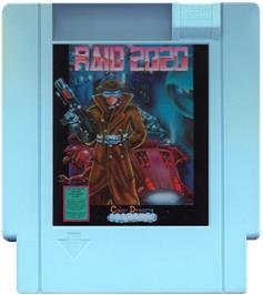 Cartridge artwork for Raid 2020 on the Nintendo NES.