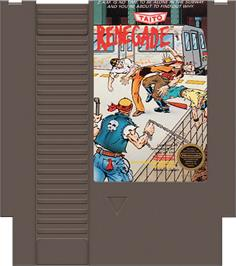 Cartridge artwork for Renegade on the Nintendo NES.