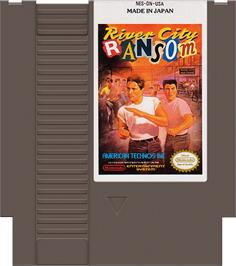 Cartridge artwork for River City Ransom on the Nintendo NES.