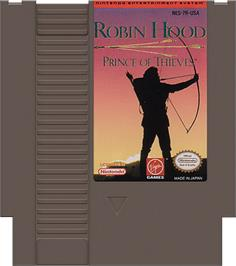 Cartridge artwork for Robin Hood: Prince of Thieves on the Nintendo NES.