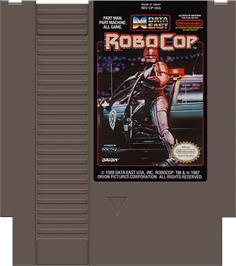 Cartridge artwork for Robocop on the Nintendo NES.